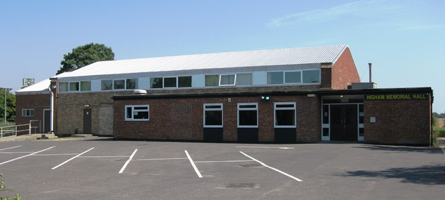 photograph of Higham Memorial Hall, the ideal venue