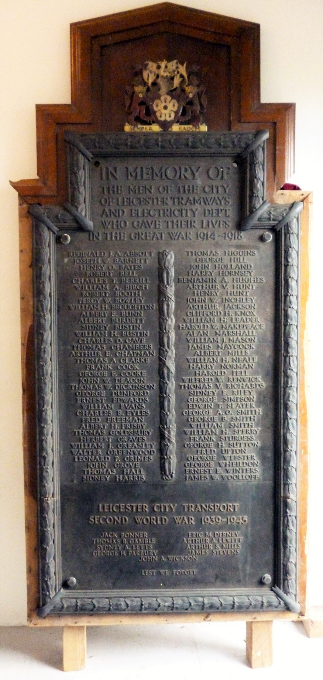 The City of Leicester Tramways and Electricity Dept. Memorial
