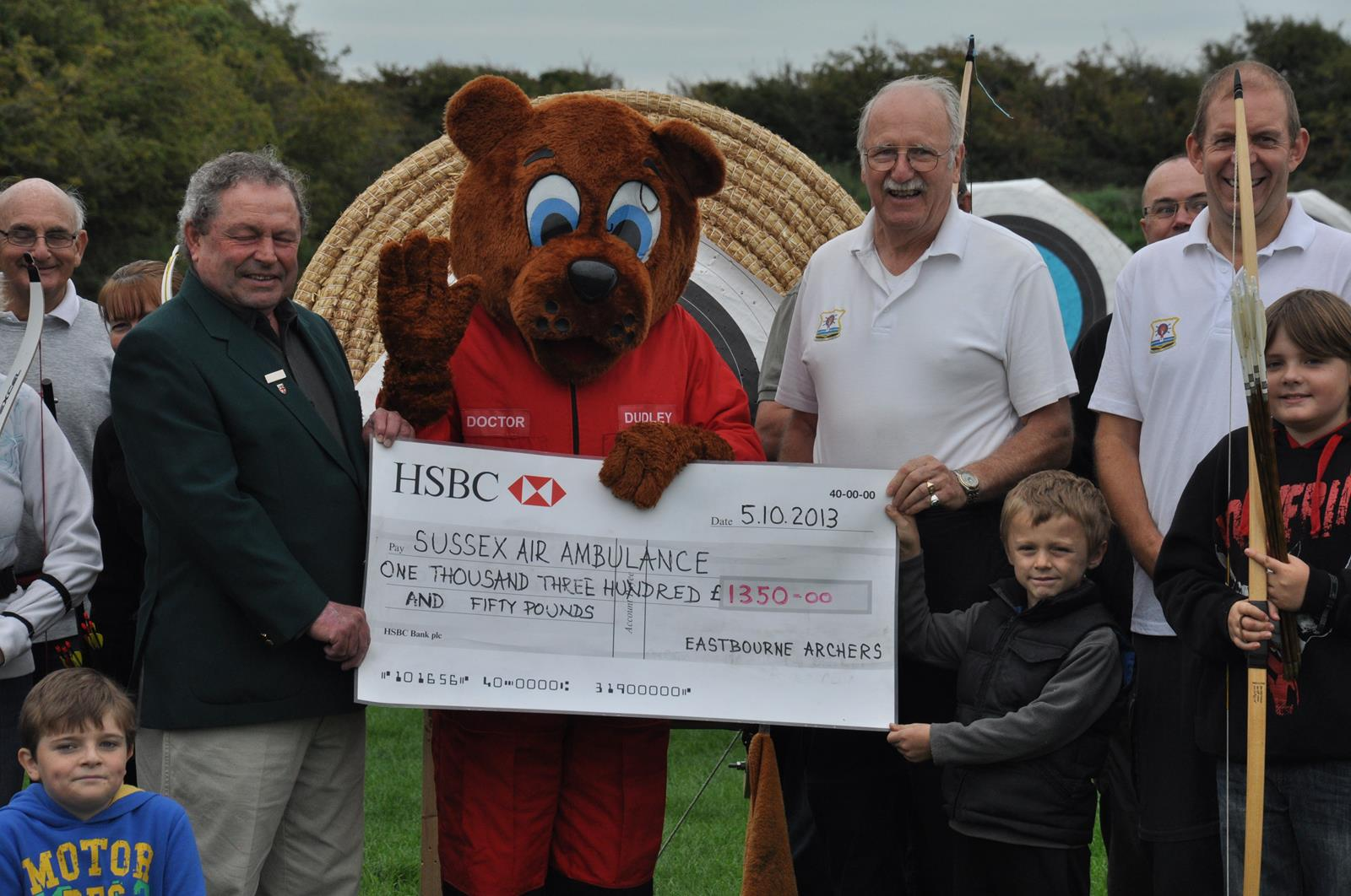 Cheque for Sussex Air Ambulance