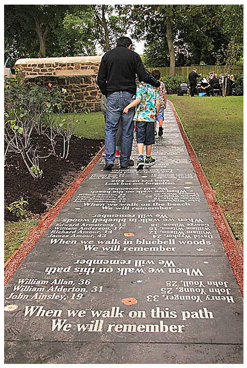 Wallsend Local History Society New Hartley Memorial Pathway