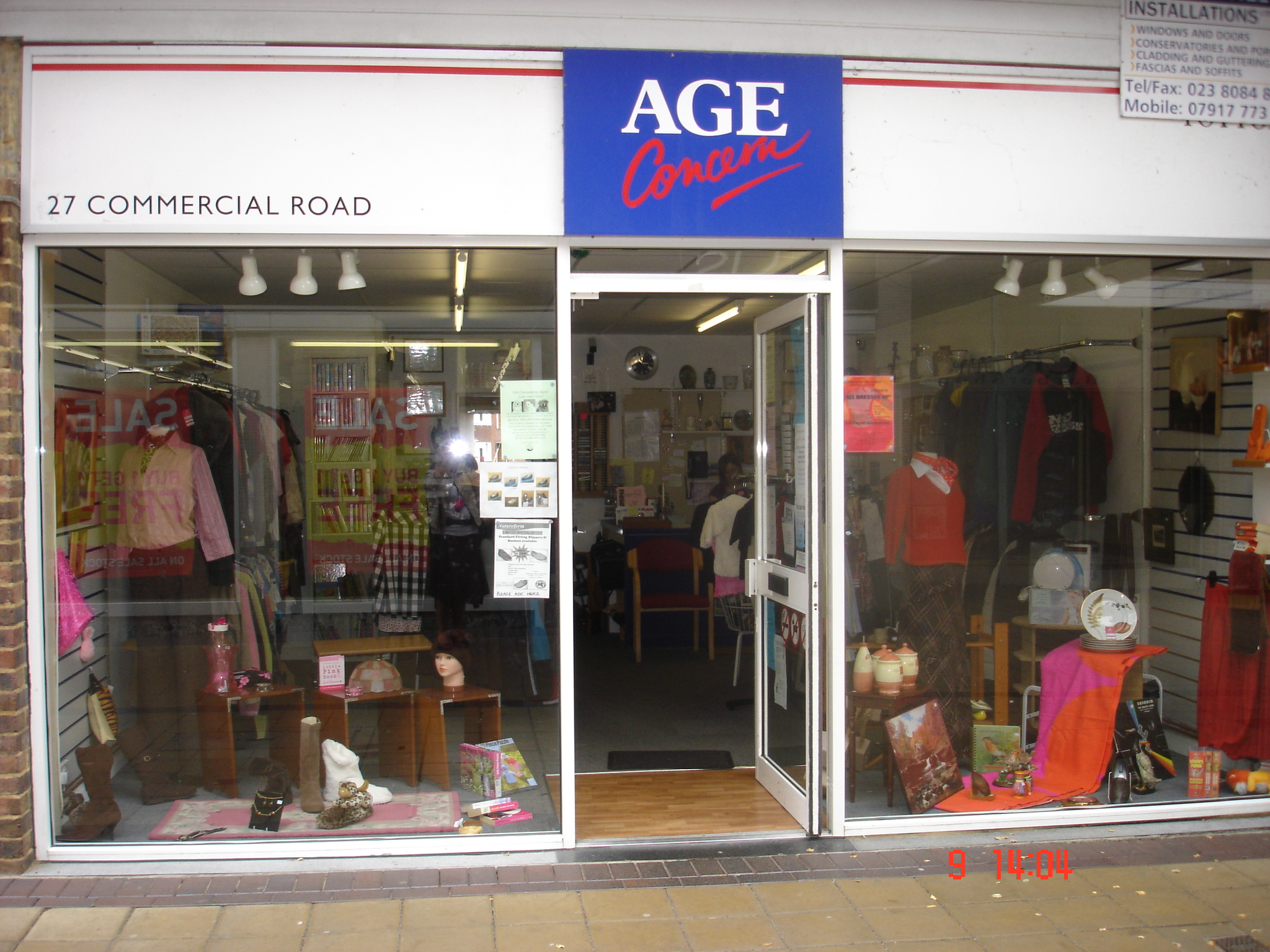 Age Concern New Forest Charity Shop Holbury Southampton