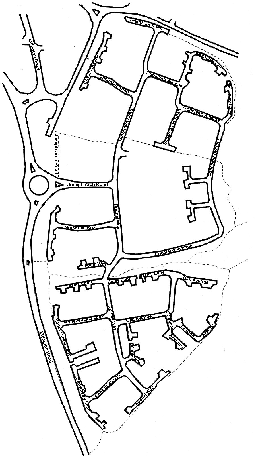 Map of Redhill Park