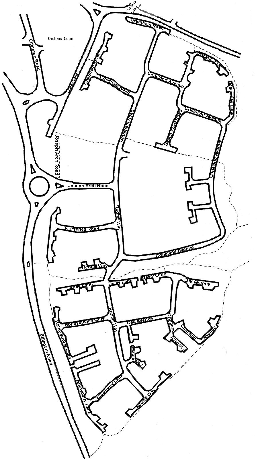 Redhill Park Map