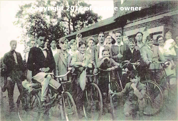 Biking home from Boys Brigade summer camp in 1942