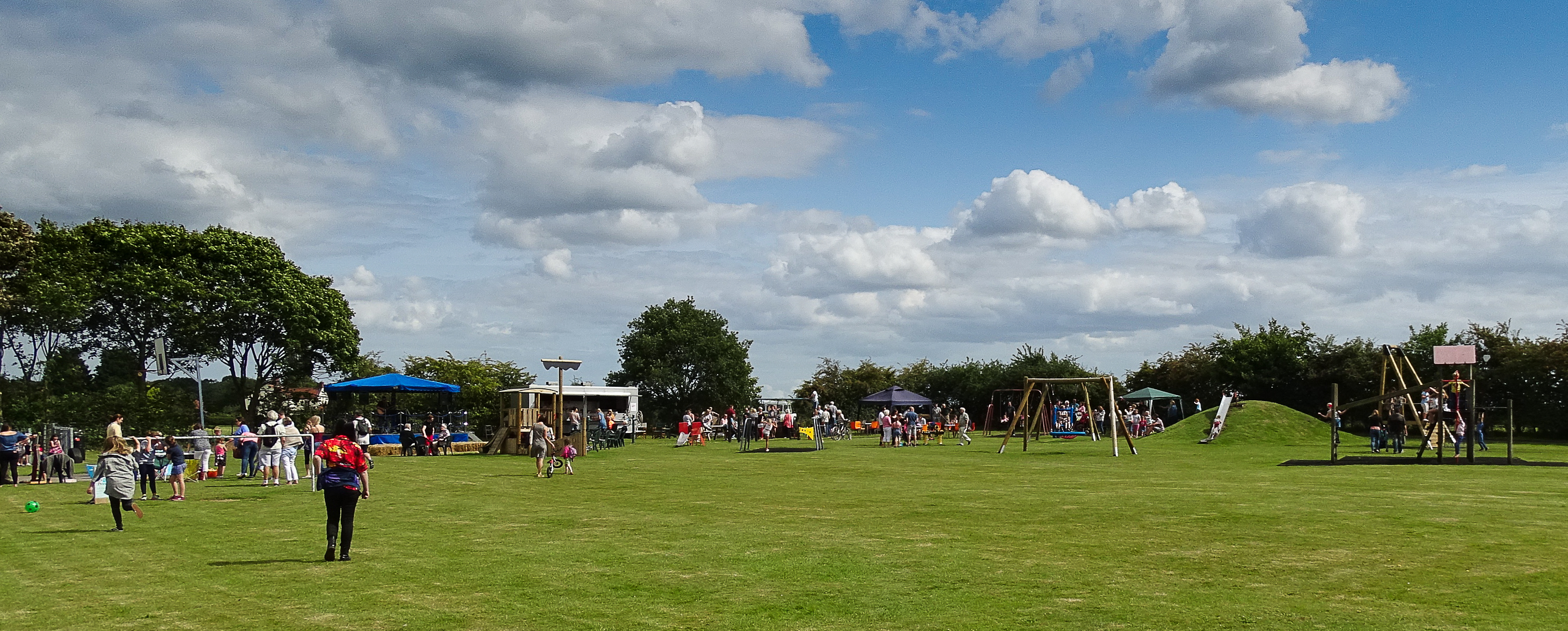 Celebrations at Ellingham playing field