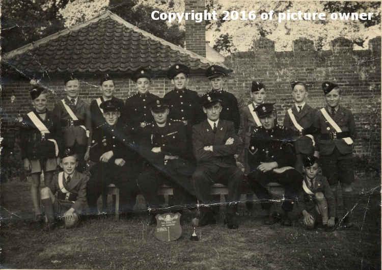 Kirby Cane church Lads Brigade c 1948