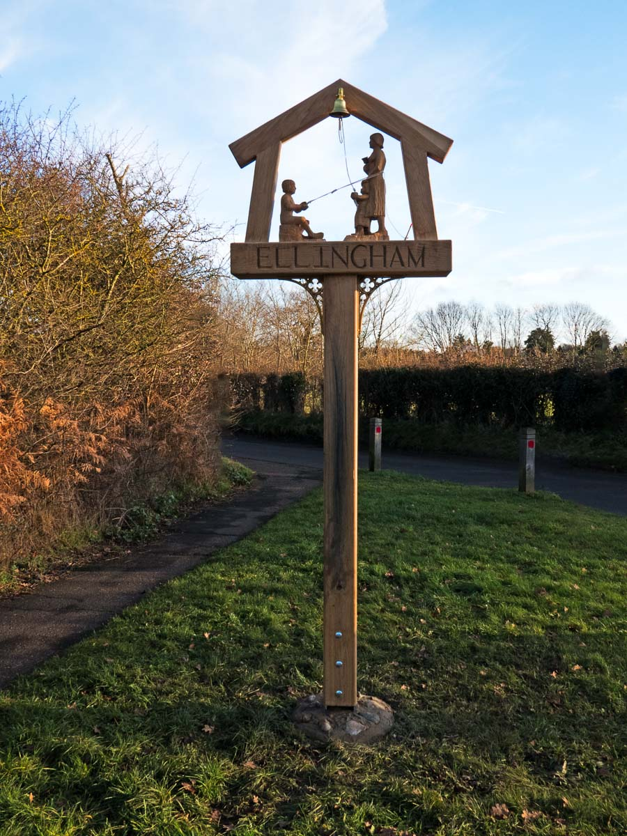 Ellingham village sign