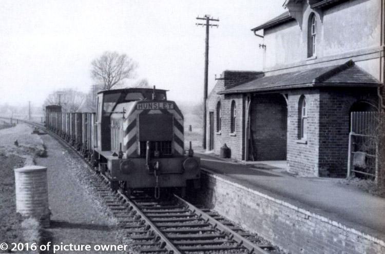A train at Ellingham station