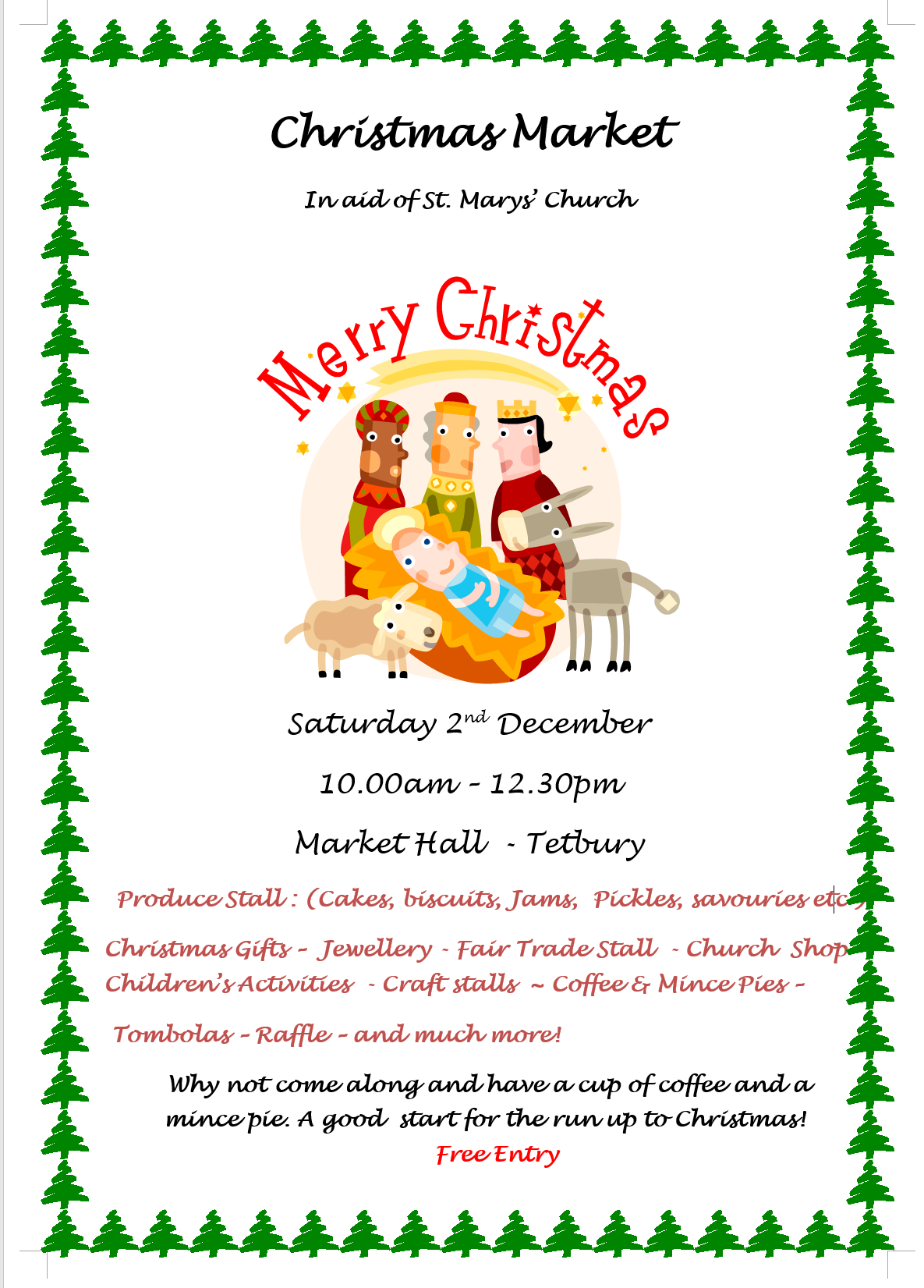Christmas Market. 2nd December in the Market Hall