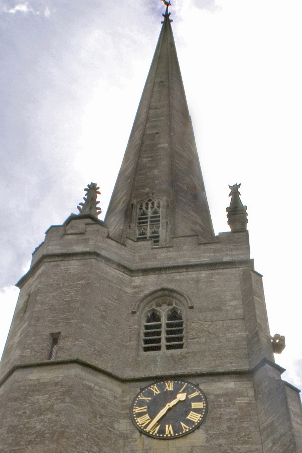 The church clock and tower