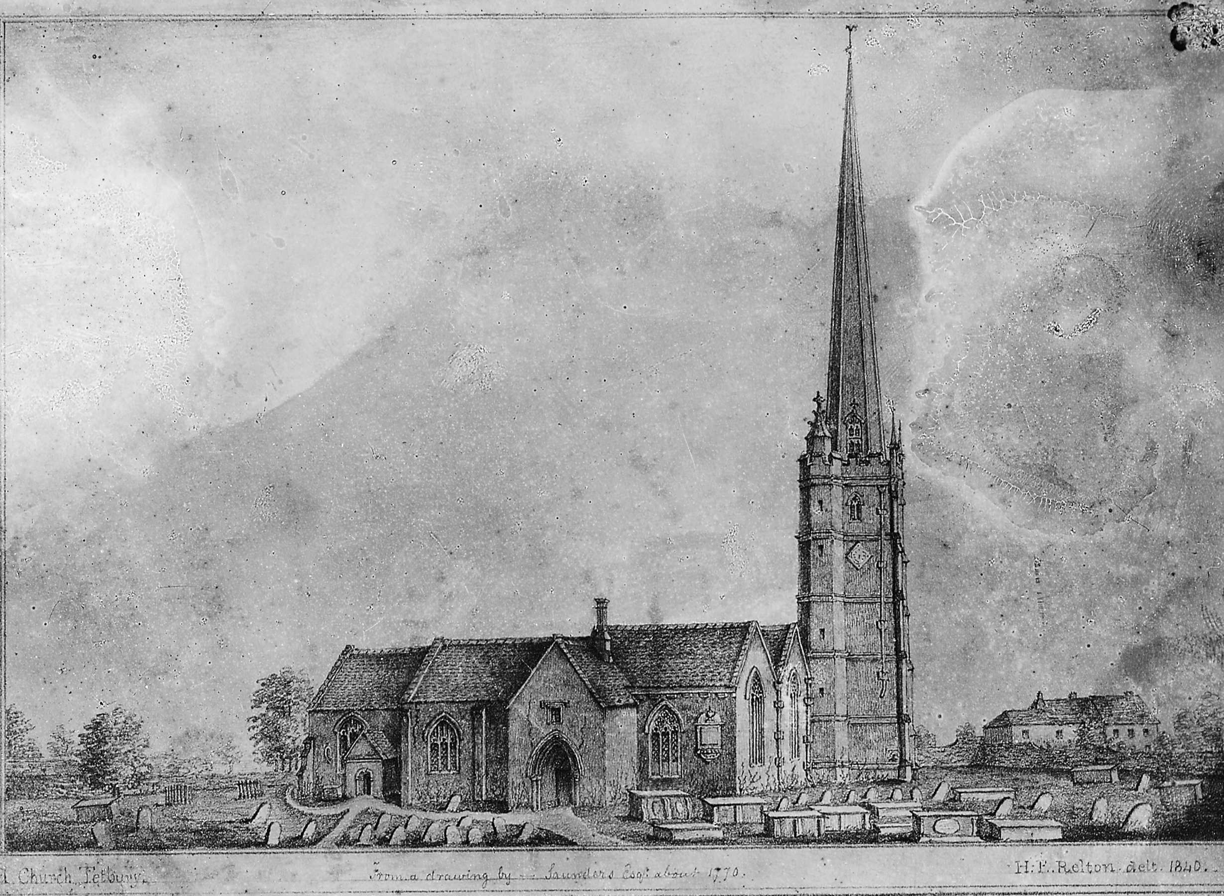 Sketch of the Medieval church