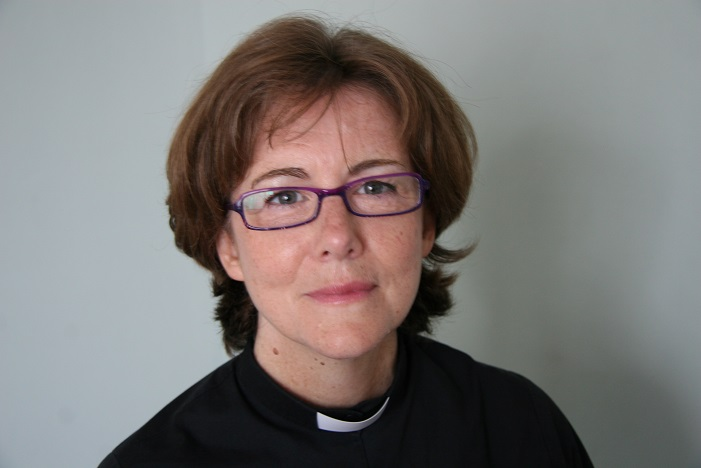 Reverend Poppy Hughes, priest in charge of the benefice