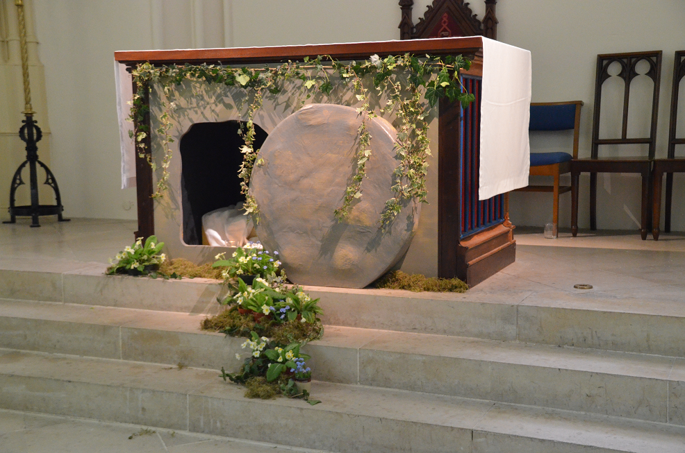 The image of the empty tomb in St Marys' is a beautiful reminder of the Easter story (photo by the Revd. Ian Aveyard)