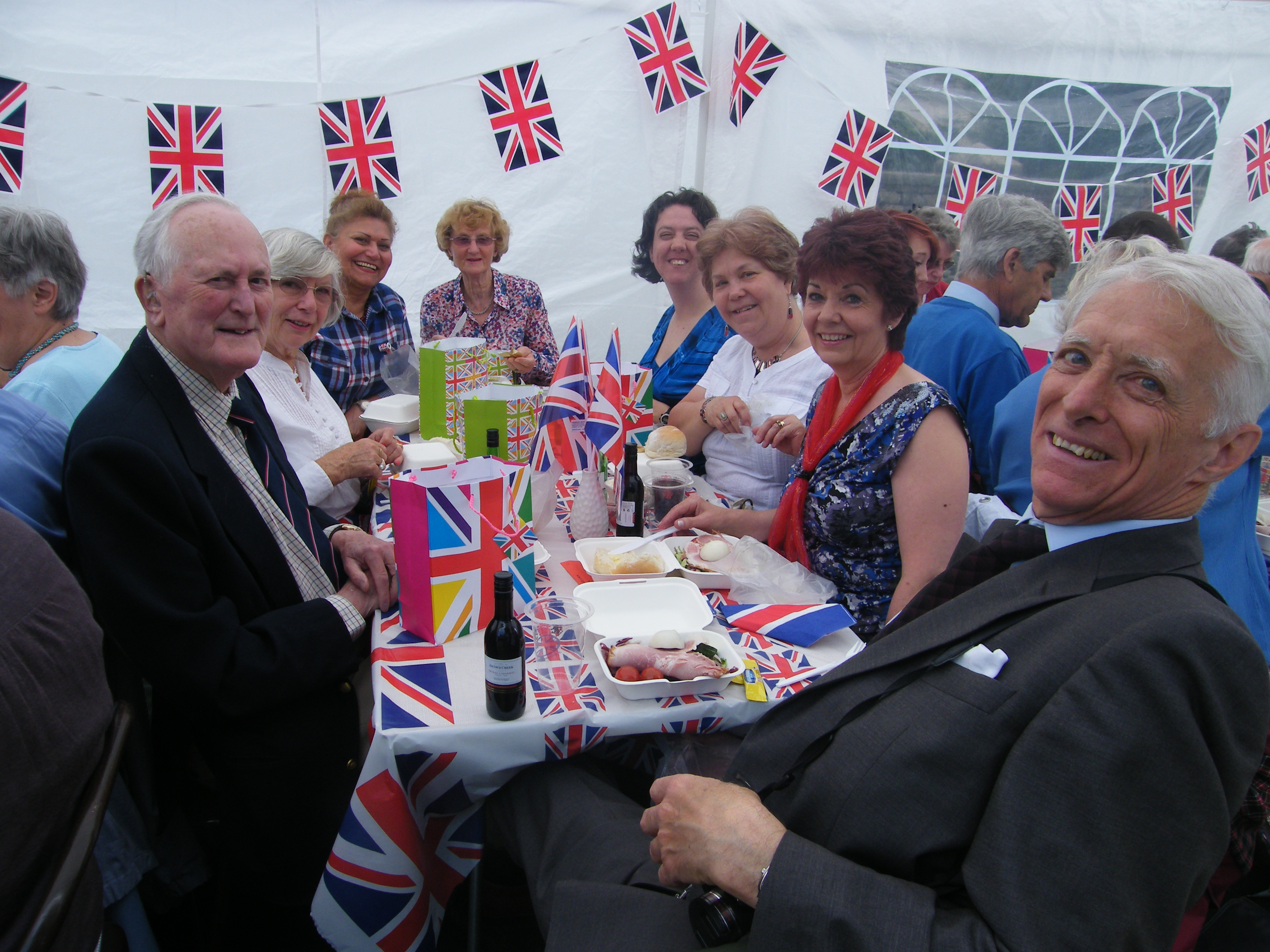 Diamond Jubilee Lunch at the Vicarage, June 2012
