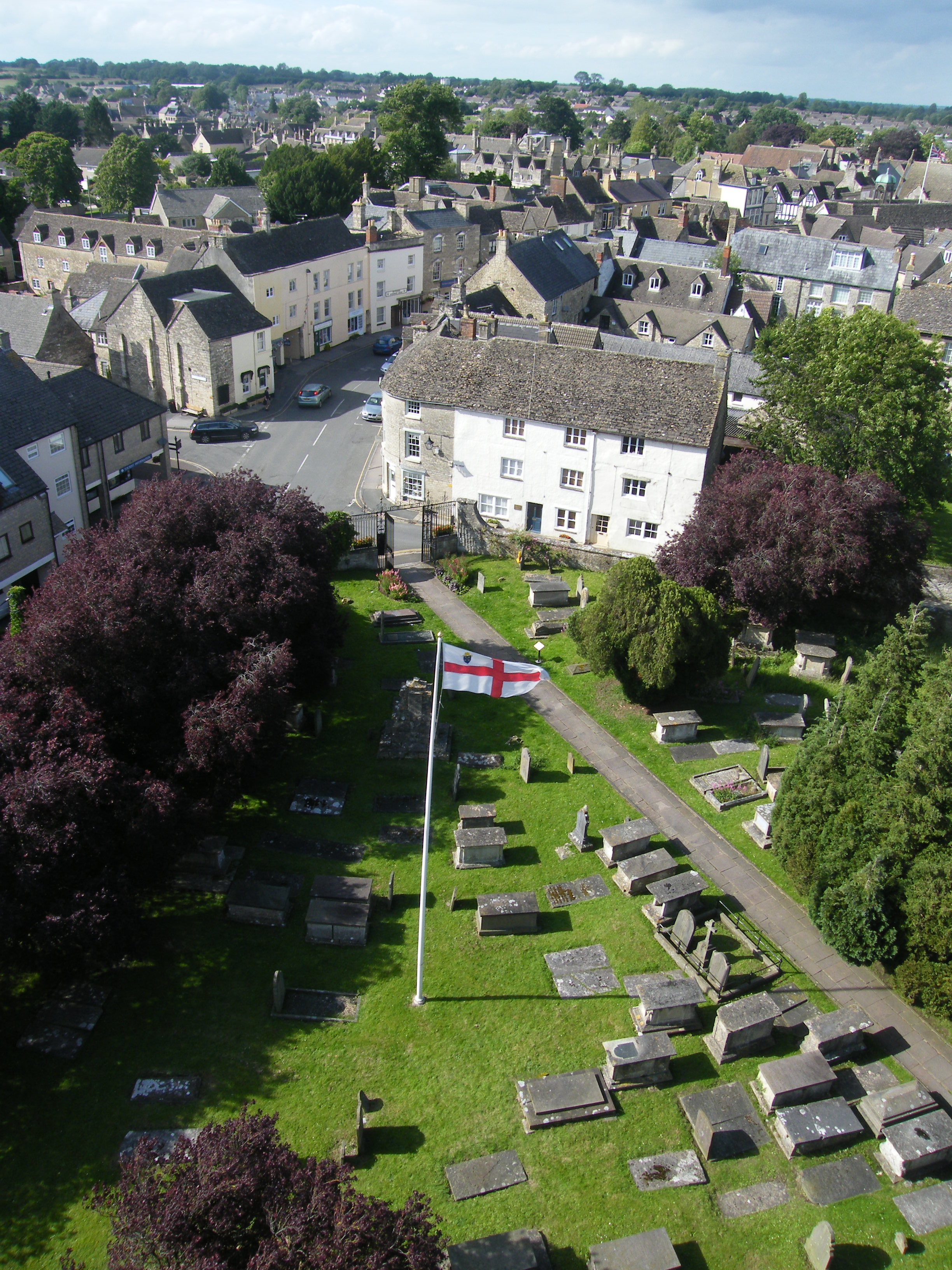 View from the Top of the Church Tower, Church Open Day, July 2012