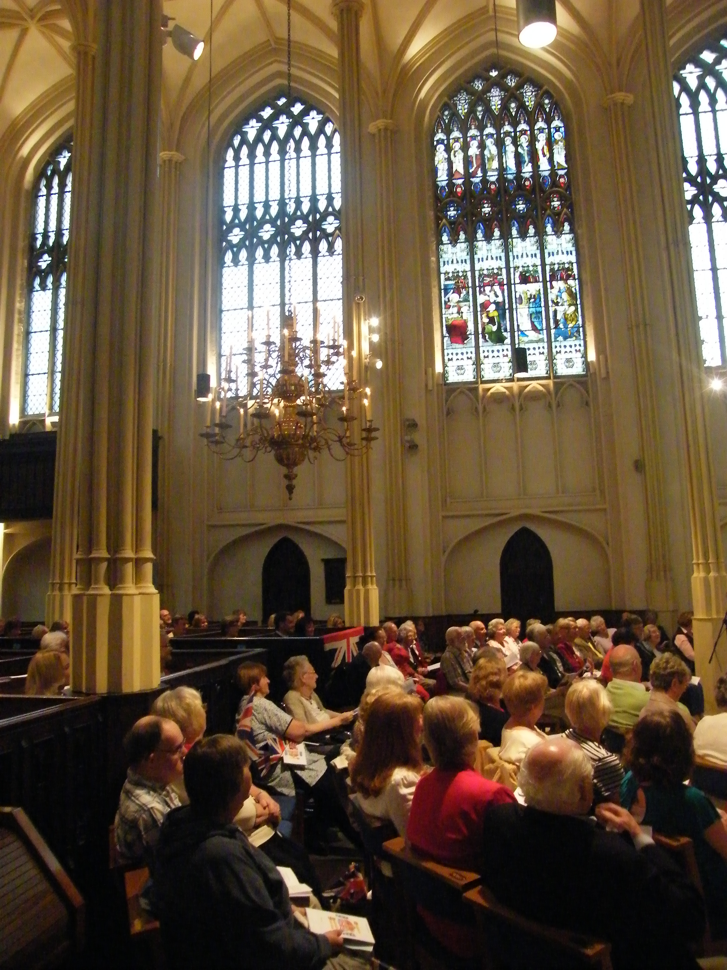 Congregation Enjoying the Diamond Jubilee Concert in Church, June 2012