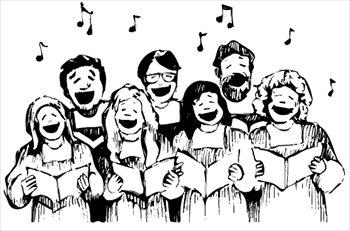 Choristers singing
