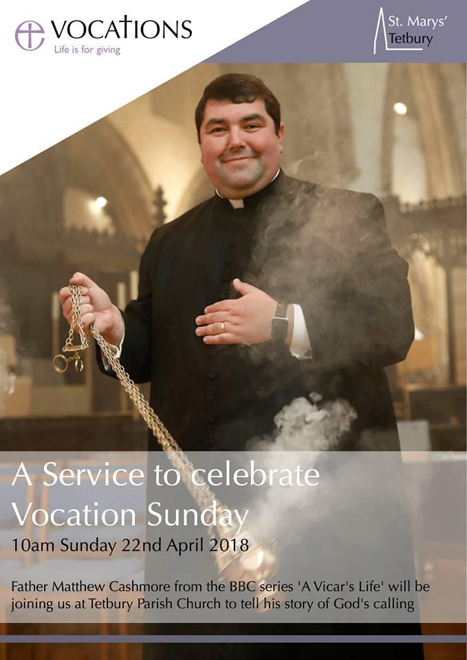 A service to celebrate vocation Sunday. St Marys Church. 10am Sunday 22nd May 2018