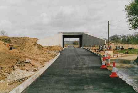 Watery Lane M20 bridge construction