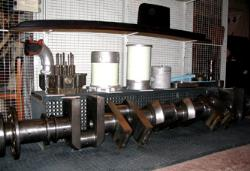 photograph of ASR2 marine diesel engine components