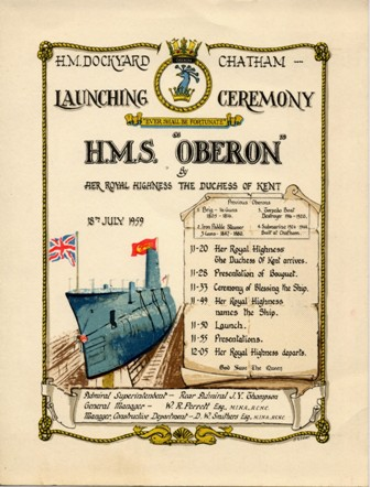 image of HMS/M Oberon Launch Programme
