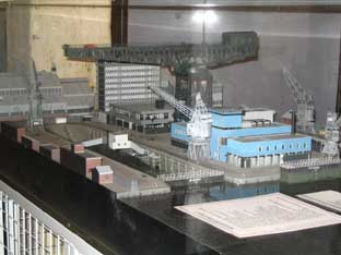 photograph of the Nuclear Refuelling Complex model