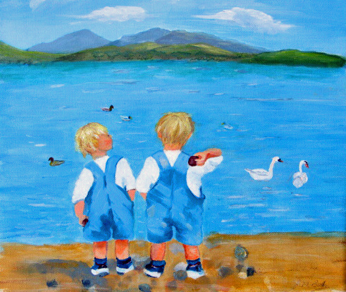 Joan Betts Twins at the Seaside.jpg