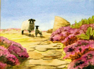 Karen Howard Sheep in the Heather.jpg