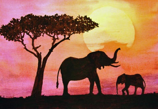 KarenHowardElephantsatSunset.jpg