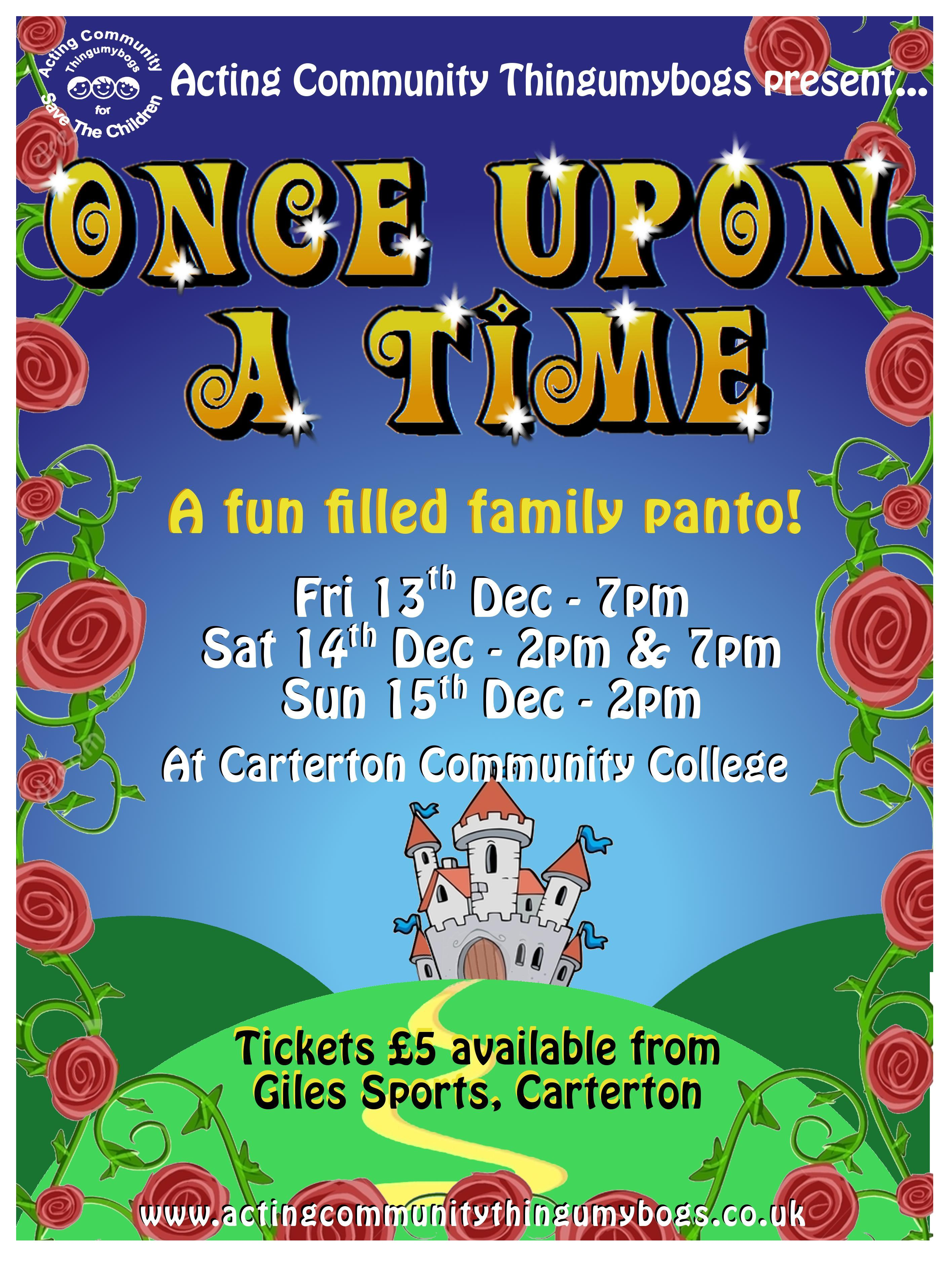 Acting community thingumybogs once upon a time 2013 for Farcical pantomime