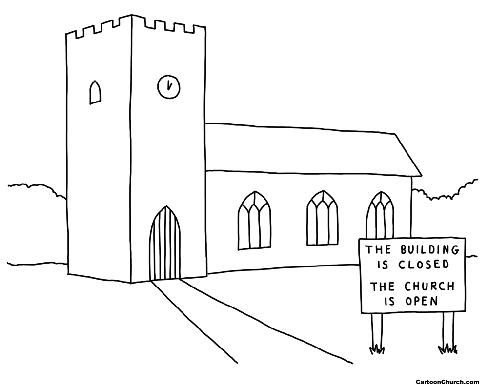 The building is closed, the church is open