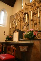reredos behind main altar