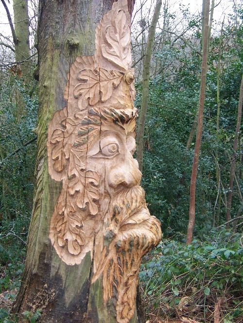 Lesnes Abbey Conservation Volunteers - Tree Carving Of ...