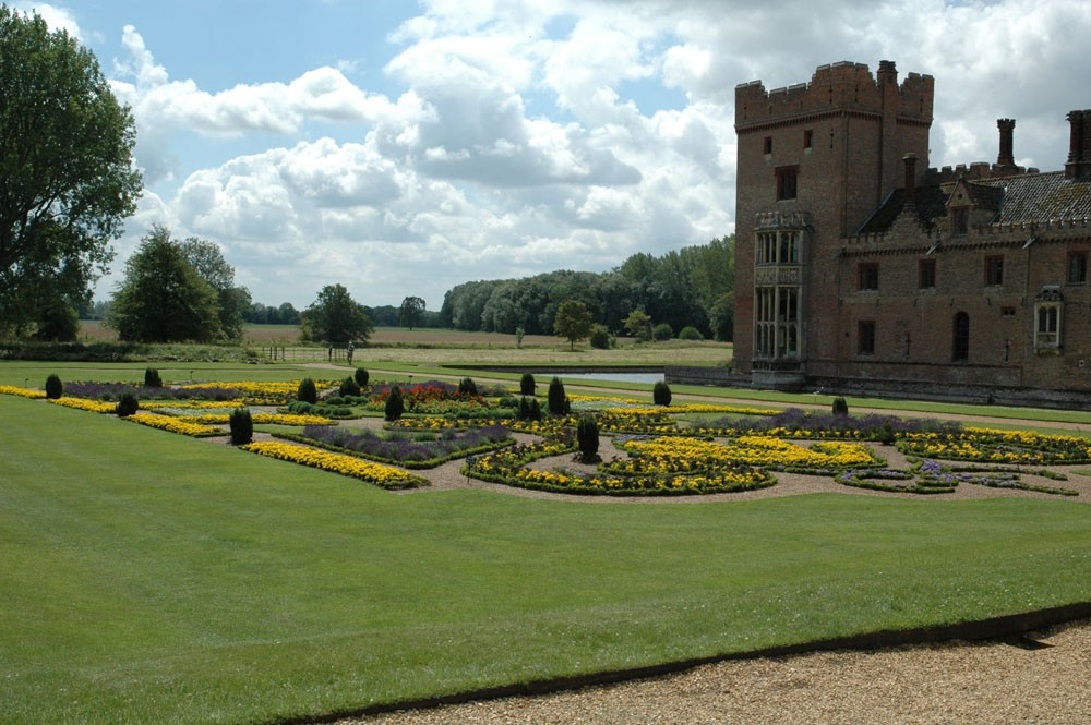 The parterre at Oxburgh Hall taken Bob Greef during July 2011.