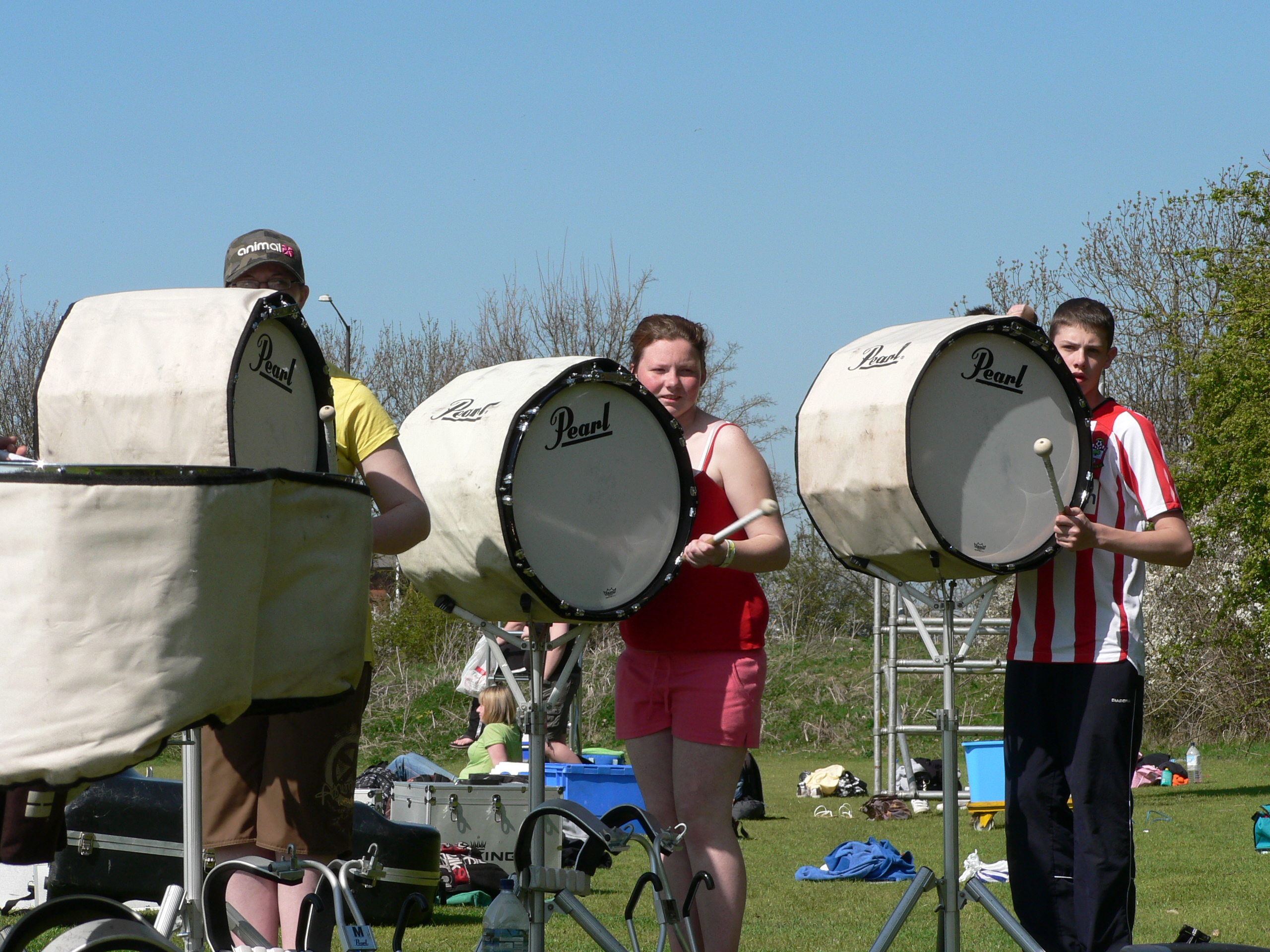 The Front Line Ensemble Pit Contains Non Marching Percussion Due To Size Of Equipment This Comprises Marimbas Vibraphones