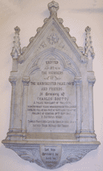 Sergeant Brett's Memorial in Saint Ann's Church, Manchester