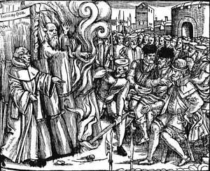 The Burning of Thomas Cranmer - Protestant Martyr