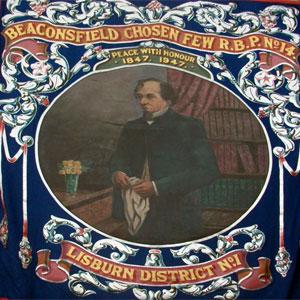 A Royal Black Preceptory Banner Featuring Disraeli
