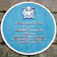 John Bradford Memorial at Manchester Cathedral