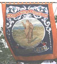 Wycliffe's Invincible Morning Star Orange Banner