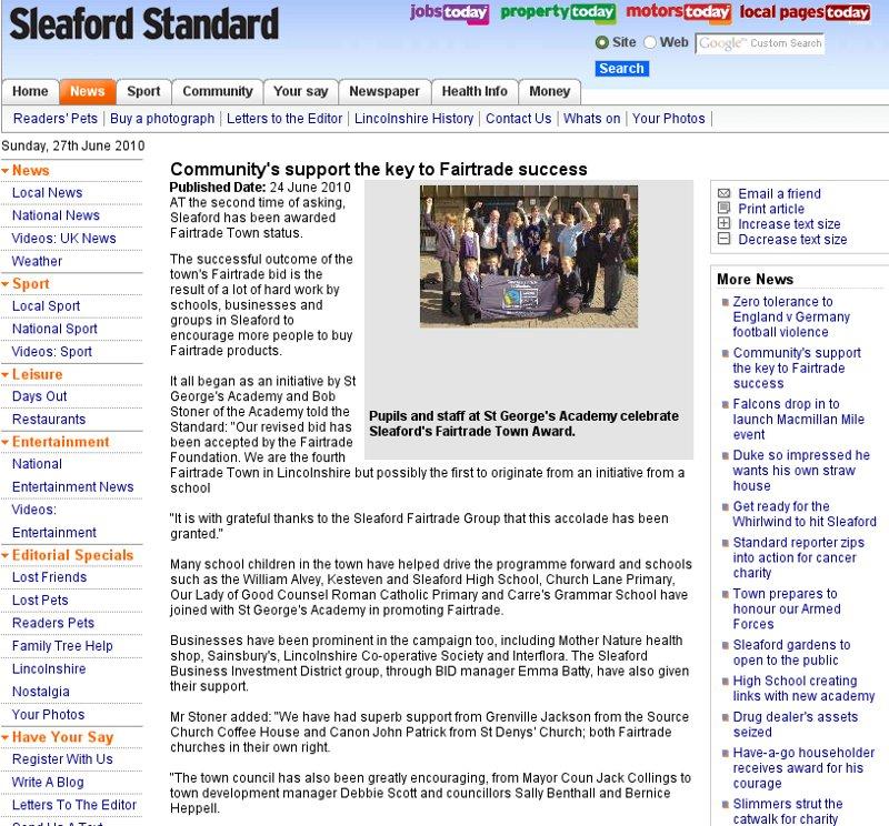 SleafordStandard coverage 24 June 2010.jpg