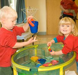Play Start Children enjoying water play