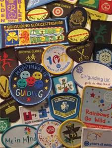 Girlguiding Guide Go For It badges