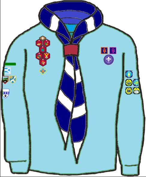Beaver Uniform Badge Position