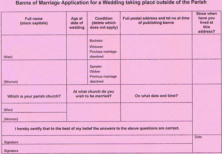 What are Marriage Banns?