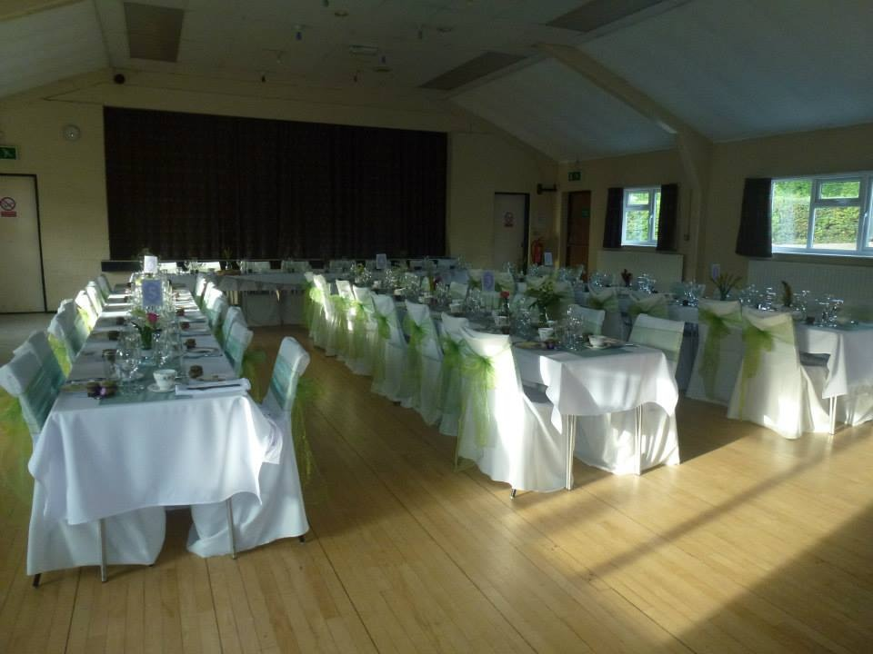 Curdworth Village Hall Photograph Set For A Wedding Reception