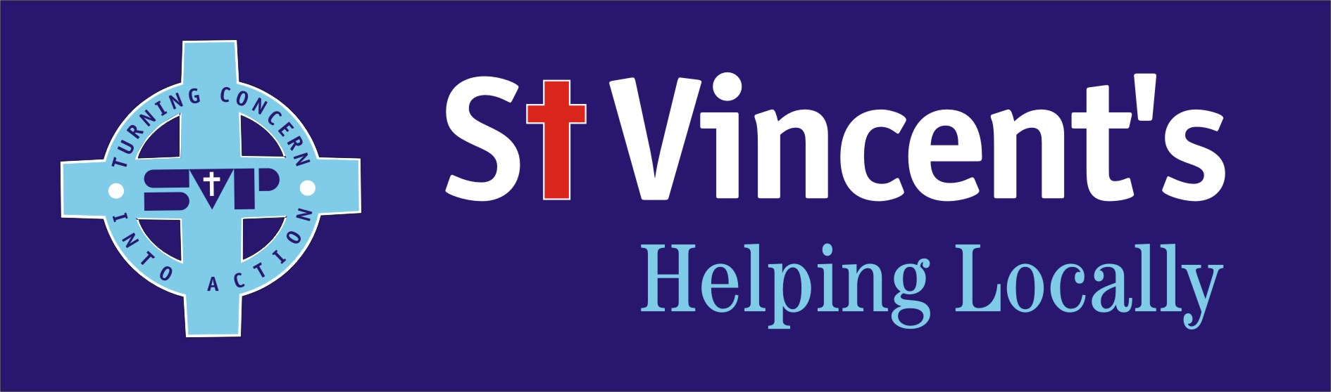 St Vincent's Helping Locally Logo