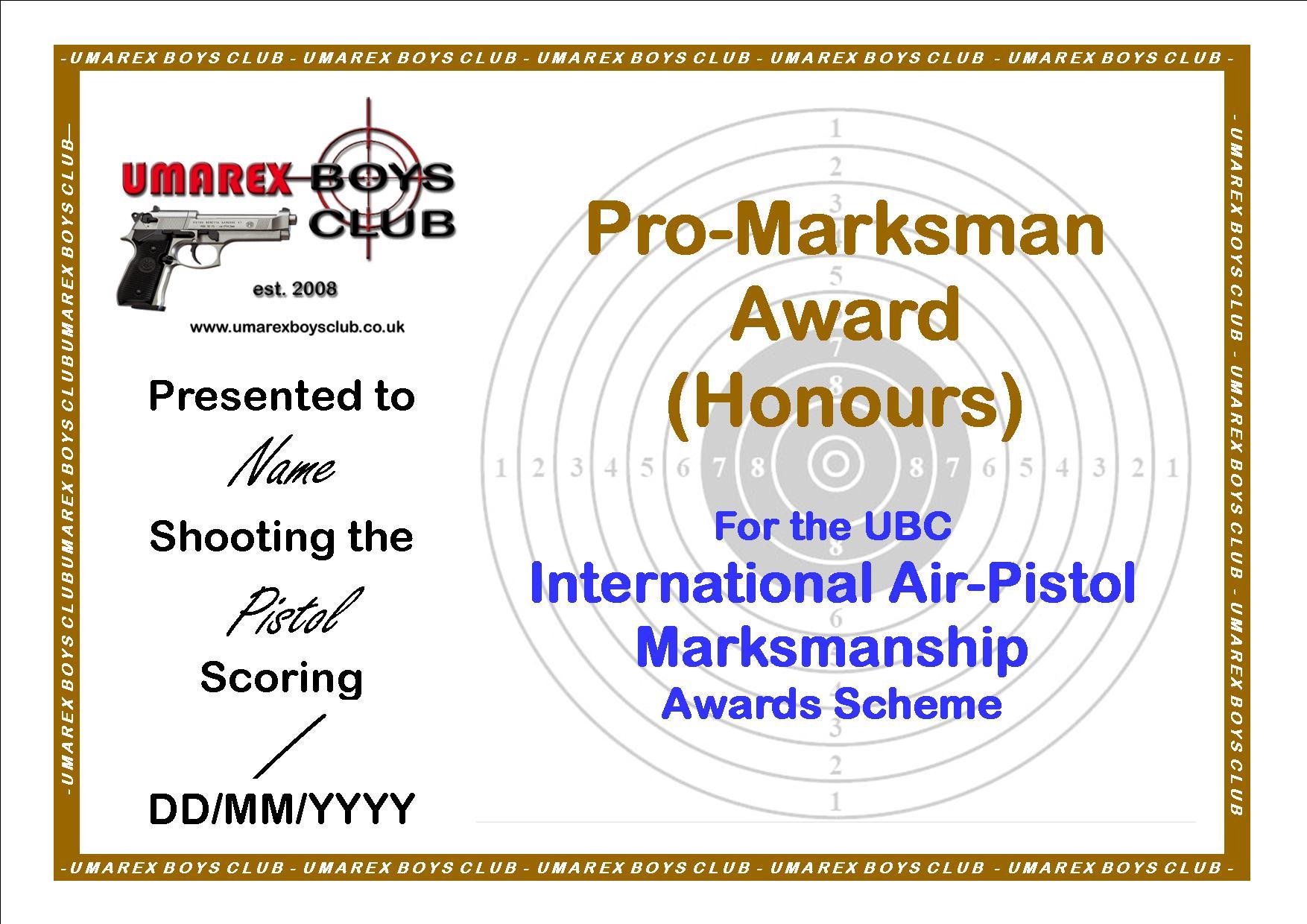 Ubc marksman award scheme certificates ubc marksman award scheme certificates xflitez Choice Image