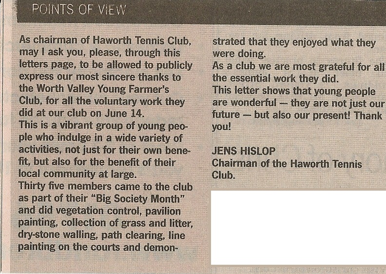 Worth valley yfc 20102011 letter praising worth valley yfc and all the work they did there as part of our volunteer month well done to everyone who helped out throughout the stopboris Images