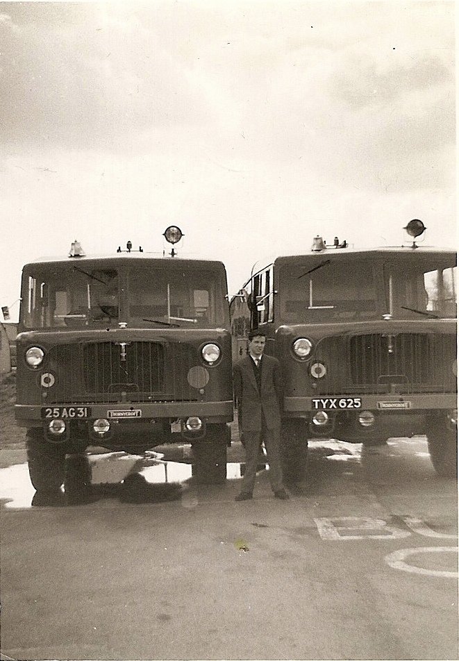 RAF Worksop, fire Service, 4 FTS, Thornycroft, Nubian, DP1